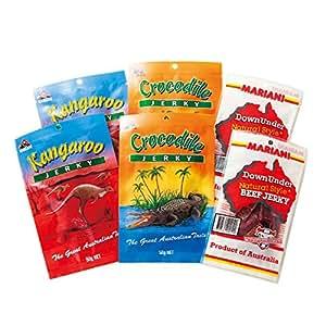 [オーストラリアお土産] オージージャーキー 3種6袋セット (海外 みやげ オーストラリア 土産) | おつまみ・珍味 通販