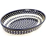 [Zaklady Ceramiczne Boleslawiec/ザクワディ ボレスワヴィエツ陶器] グラタン皿(オーバル)-166 ポーリッシュポタリー