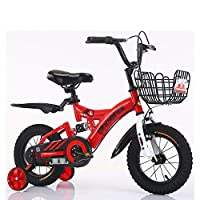 子供ペダルバイク子供用自転車2-10歳の赤ちゃん少女キャリッジバイク黄色の青い赤 (色 : 赤, サイズ さいず : 18 inch)