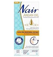 Nair Argan Oil Ultra Precision Roll-on Wax for Face & Eyebrows 15ml - 顔&眉15ミリリットルのためNairさんのアルガンオイル超精密ロールオンワックス (Nair) [並行輸入品]