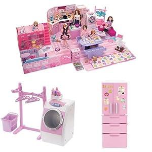 リカちゃん チャイムでピンポーン ひろびろゆったりさん 冷蔵庫&洗濯機セット