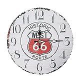 ルート66 壁掛け時計 カフェクロック アメリカ アンティーク アナログ おしゃれ ヒストリック ホワイト