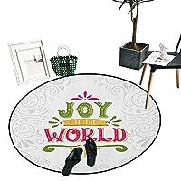 "Joy Home Decor エリアラグ 抽象的なクリスマスツリーパターン ツリートッパー カーリックス 渦巻き リビング ダイニングルーム ベッドルーム ラグ ダークコーラル ブラック ホワイト D36""/0.9m"