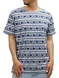 Fat Animals(ファットアニマルズ) 大きいサイズ Tシャツ メンズ 半袖 マリンボーダー くじら プリント ミディアムグレー 5L