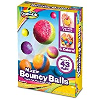 Creative Kids DIY Magic Bouncy Balls - Create Your Own Crystal Power Balls Craft Kit for Kids - Includes 25 Bags of Multicolored Crystal Powder & 5 Molds - Makes Up to 43 Balls [並行輸入品]