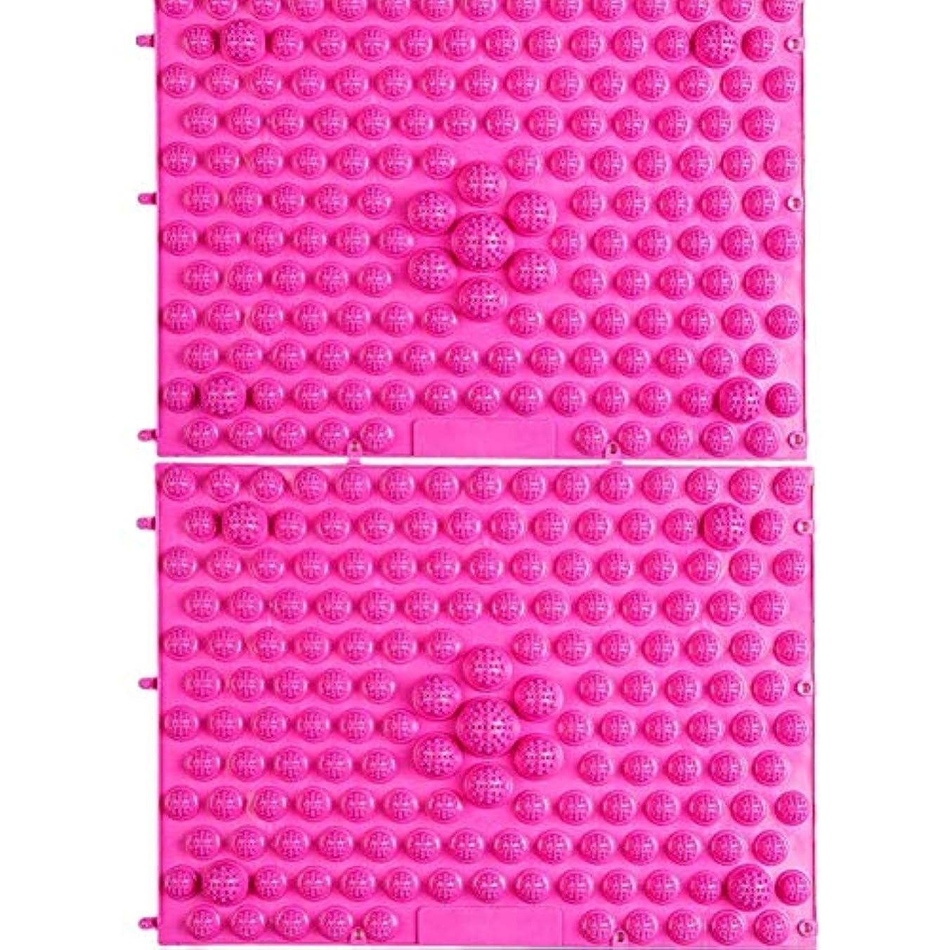 娘慢性的突撃wompolle マッサージ?ツボ押しグッズ 生活に刺激と健康を!足つぼキャニオンマット マッサージ屋さんの健康マット ドラゴンマット 足踏み 足ツボ 2枚組 (Pink)