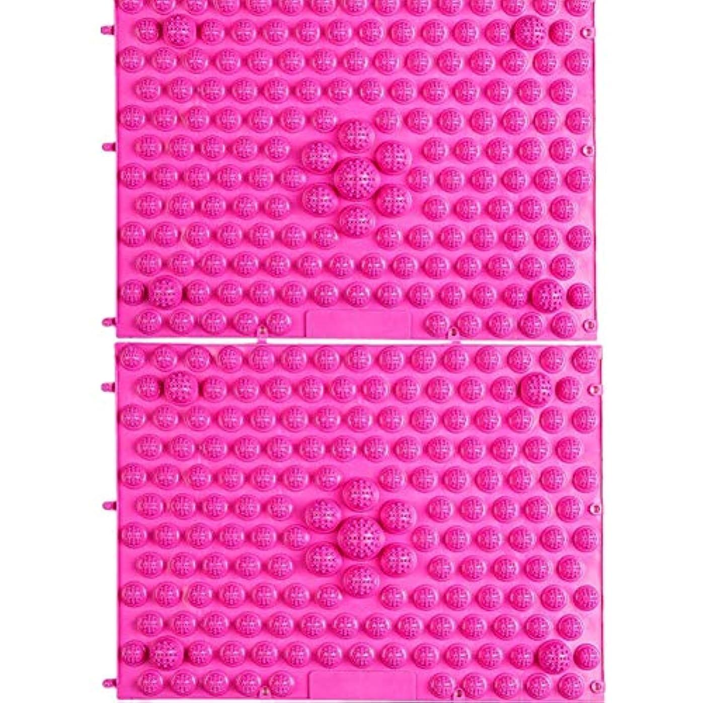 知っているに立ち寄る構成毛細血管wompolle マッサージ?ツボ押しグッズ 生活に刺激と健康を!足つぼキャニオンマット マッサージ屋さんの健康マット ドラゴンマット 足踏み 足ツボ 2枚組 (Pink)