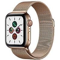 Apple Watch Series 5(GPS + Cellularモデル)- 40mmゴールドステンレススチールケースとゴールドミラネーゼループ