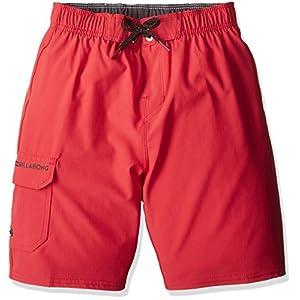 (ビラボン)BILLABONG 子供用 おしゃれ ストレッチ ボードショーツ 水着 ( 親子ペアルックシリーズ ) 【 AH015-401 / TRUNKS 】 AH015-401 RED RED_レッド 130