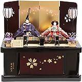 雛人形 親王収納飾り【花ごろも】 [幅60cm] 平安優香 伝統工芸 寄木細工 [193to1271-a6] 雛祭り