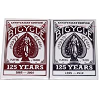 BICYCLE(バイスクル) 125TH ANNIVERSARY EDITION(125周年記念) トランプ 赤/青 2デックシュリンクパック