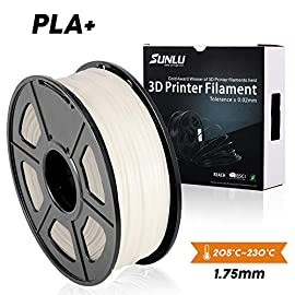 White PLA+ 3D Printer Filament 1.75mm 1KG Spool Filament for 3D Printing,3D Pens, Dimensional Accuracy +/- 0.02 mm SUNLU 3D Printer filament and 3D Pen is a place where your imagination is brought to life.  Designed with superior quality and best us...