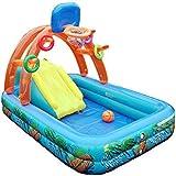 ビニールプール 家庭用 子供用 ボーループール 滑り台付き ポンプ付き