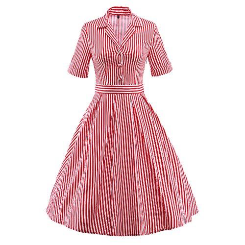 iLoverロカビリースイングドレスヴィンテージワンピースレトロパーティー森ガール格子縞ベストストラップドレス