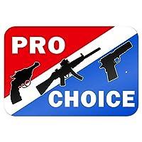 "Pro-choice 銃S - プロチョイス第二憲法修正第2条 9"" x 6"" 私にtal 符号"