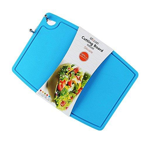 Liflicon リフリカン シートまな板 シリコン 抗菌 耐熱 滑りにくい 食洗機対応 32×23×厚さ0.5cm (ブルー)