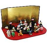 ディズニーアイコン段飾り 陶器 雛人形 ひな人形 ミニつるし飾り特典付オリジナル雛人形 雛 ミニ 雛飾り 初節句 雛まつり
