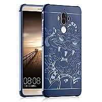 超薄型携帯電話表紙 Huawei Mate 9のためのドラゴンパターンTPU超スリム保護ケースシリコン耐衝撃カバーデザイン パーソナリティの携帯電話ケース (Color : Gray, PATTERN : Dragon)