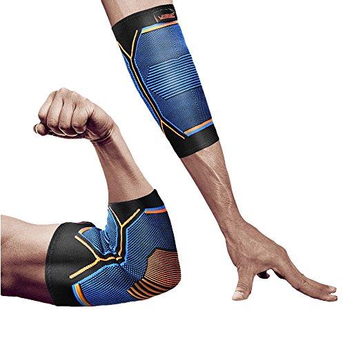 肘サポーター LiveupSports 肘サポート 肘固定 伸縮性 保温性 通気性 滑り止め 怪我防止 関節 靭帯 保護 アウトドア スポーツケア