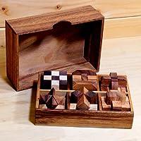 ROCKS MOTION・脳トレ 6個セットWood Puzzle(ロックスモーション 6個セットウッドパズル