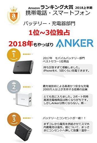 Anker PowerCore 13000 (13000mAh 2ポート 大容量 モバイルバッテリー ホワイト) iPhone / iPad / Xperia / 新しいMacBook / Android各種他対応 コンパクトサイズ 【PowerIQ & VoltageBoost搭載】