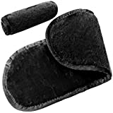 Microfibre Makeup Remover Cloth Face Cleansing Towel 3 Pack (Black)