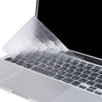 Mosiso キーボードカバー 防水 防塵カバー 保護 キースキン 清潔易い 日本語 JIS配列 MacBook Air 13 インチ MacBook Pro 13/15 インチ Retina Display(付き/無し)(クリア)