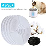 BEACON PET 4PCS Replacement Water Fountain Filters for Cats, Dogs, Multiple Pets