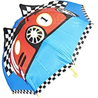 Kiddi Choice 3D PopUp Racing Car Cute Umbrella, Blue/Red