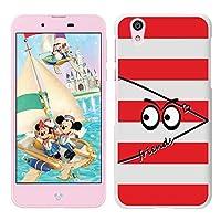[Breeze] Disney Mobile on docomo DM-01Jケース ディズニーモバイル DM01Jカバー DM01J スマホカバー スマホケース 液晶保護フィルム付 White(RED)