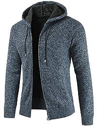 Keaac メンズ冬暖かいフリースはジップアップサーマルフードジャケットアウトウェアを裏地