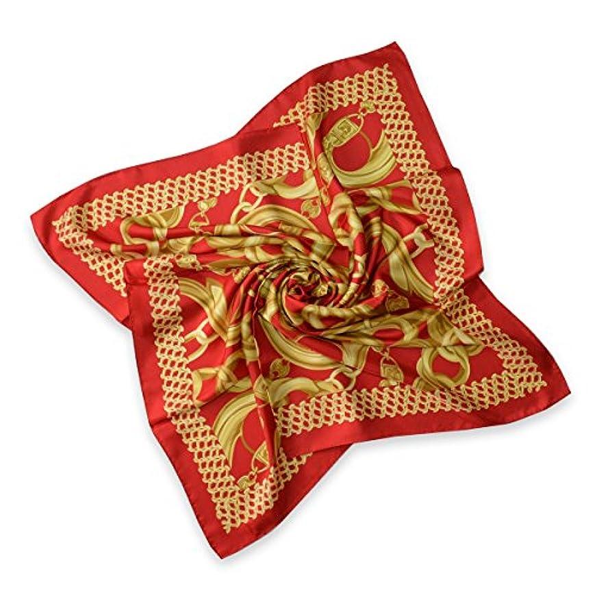 製造業工業用気球スカーフ 大判 正方形  シルク綾織 ゴールデンオーナメント 331a