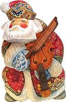 G. Debrekht Violin Sant a Figurine, 7-Inch Tall, Limited Editon of 1,200, Hand-Painted [並行輸入品]