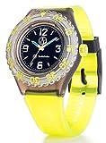 [キューアンドキュー スマイルソーラー]Q&Q SmileSolar 腕時計 ソーラー ダイバー アナログ ウレタンベルト ブラック イエロー RP16-002 メンズ