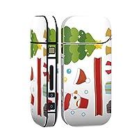 スマコレ IQOS 2.4 Plus 専用 シール 全面 ケース おしゃれ 全面ケース 保護 ステッカー デコ アクセサリー デザイン クリスマス スノーマン 冬 009252