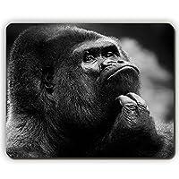 高品質のマウスパッド、チンパンジーの顔が暗い、ゲームオフィスのマウスパッド