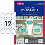 Avery Removable Round Labels, 60 mm Diameter, 120 Labels (980009 / L7104REV)
