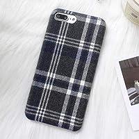 DREAMBAB電話ケースレトログリッド暖かい綿電話ケースのためのiphone xsマックスケースファッション布綿カバーのためのiphone 6 6 s 7 8プラスx xrケースCapa、スタイル1、iphone xsのため