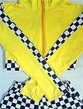 ELEEJE レースクイーン RQ コスチューム 全6色 セクシー コスプレ ハロウィン 視線釘付け (黄色)