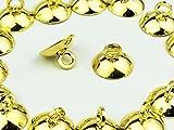 ノーブランド品 ガラスドーム キャップ ゴールド 20個 8mm カン付き (AP0392)