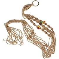 ノーブランド品  麻ロープ ナイロン ロープ 植物ホルダー ハンガー スタンド 吊りスタンド 100CM 6色選べる - #4