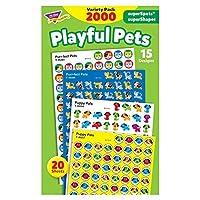 TREND enterprises Inc. Playful Pets superSpots/superShapes VarPk 2000 ct [並行輸入品]