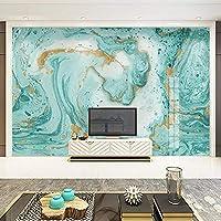 Gyqsouga カスタム3D壁紙壁画現代抽象ブルー大理石壁アートリビングルームテレビ背景ウォールペーパー家の装飾-200X150Cm