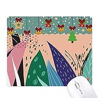 アロエ植物芸術の抽象的なパターン ゲーム用スライドゴムのマウスパッドクリスマス