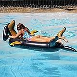 インフレータブルジャイアントドッグ、プール浮遊列、肥厚大人用ウォーターライディングインフレータブル玩具大型フローティングベッドリクライニングチェア、夏の屋外ビーチエンターテイメントのおもちゃ