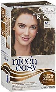 Clairol Nice'n Easy Permanant Hair Colour, 6a Light Ash Brown, 1 c