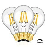TAMAYKIM LED電球 フィラメント 6W 調光器対応 E26口金 電球色(2700K) 白熱電球60W形相当 A60 レトロエジソンバルブ 一般電球・全方向タイプ 3個入