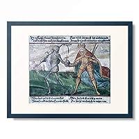 Jakob Hiebeler 「The Dance of death. The emperor. 1602」 額装アート作品