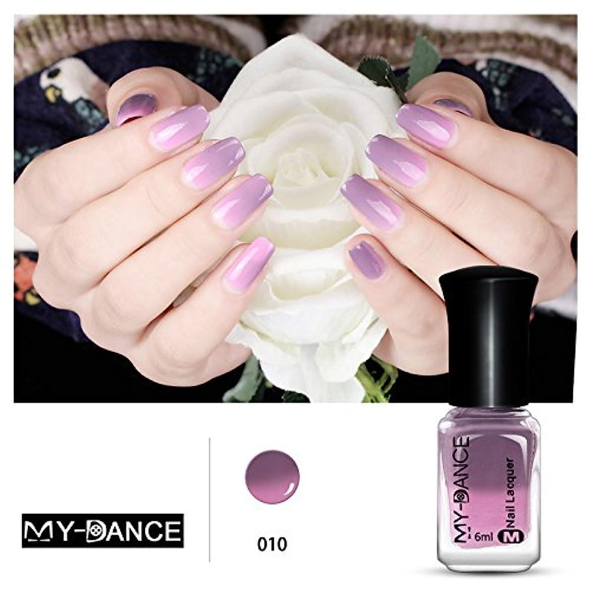 ジョージバーナード整理するムス1ボトル 紫変色グリッター マニキュアピールオフ温度によって色が変わるポリッシュ 変色 ネイルアート 6ml