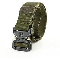 Auveach Outdoor Belt Tactical Nylon Belt Outdoor Training Belt Sport Belt